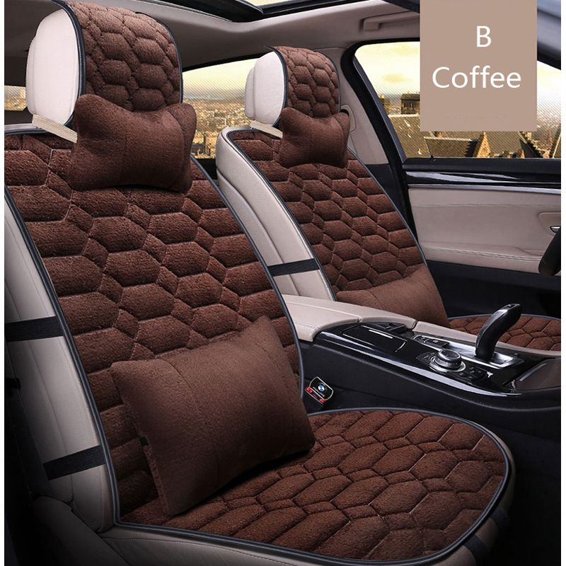 universal Autu car seat covers set faux fur cute car interior accessories cushion styling winter new plush Warm for Automobiles