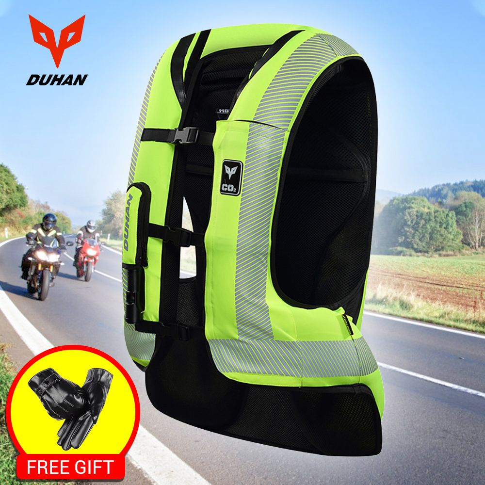 DUHAN Motorcycle Air-bag Vest Motorcycle Vest Advanced Air Bag System Protective Gear Reflective Motorbike Airbag Moto Vest