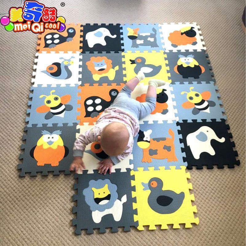 MEIQICOOL 30*30*1cm Educational Baby play Mat Puzzle mat Environmental Non-toxic Crawling Mat Kids Gym Play Mat Educational