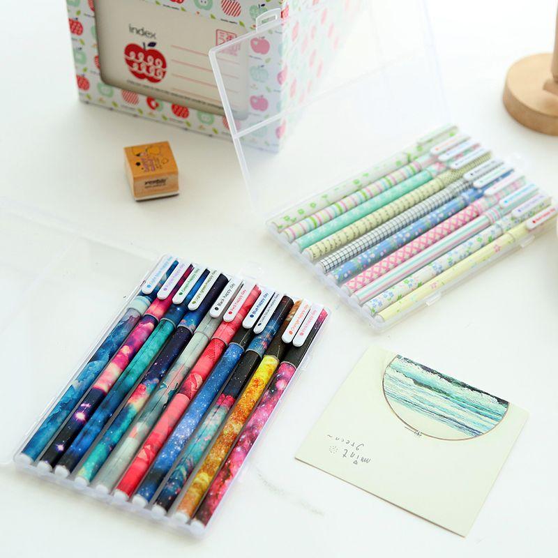 10 pièces Couleur stylos gel ensemble boîte de Dessin Animé animal Mignon Étoile Douce stylo Papeterie Bureau école fournitures Canetas escolar A6308