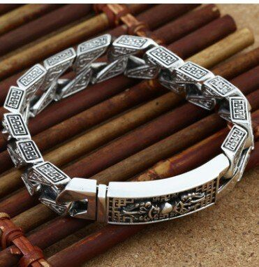 Grand bracelet hommes bracelet homme 925 bracelet en argent 21 cm