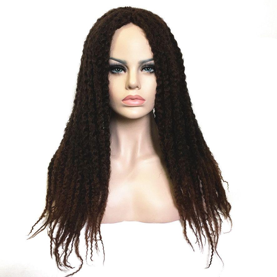 StrongBeauty Dreadlock Perücke Schwarz/Braun Ombre perücken Afro Verworren Twist Haar Synthetische