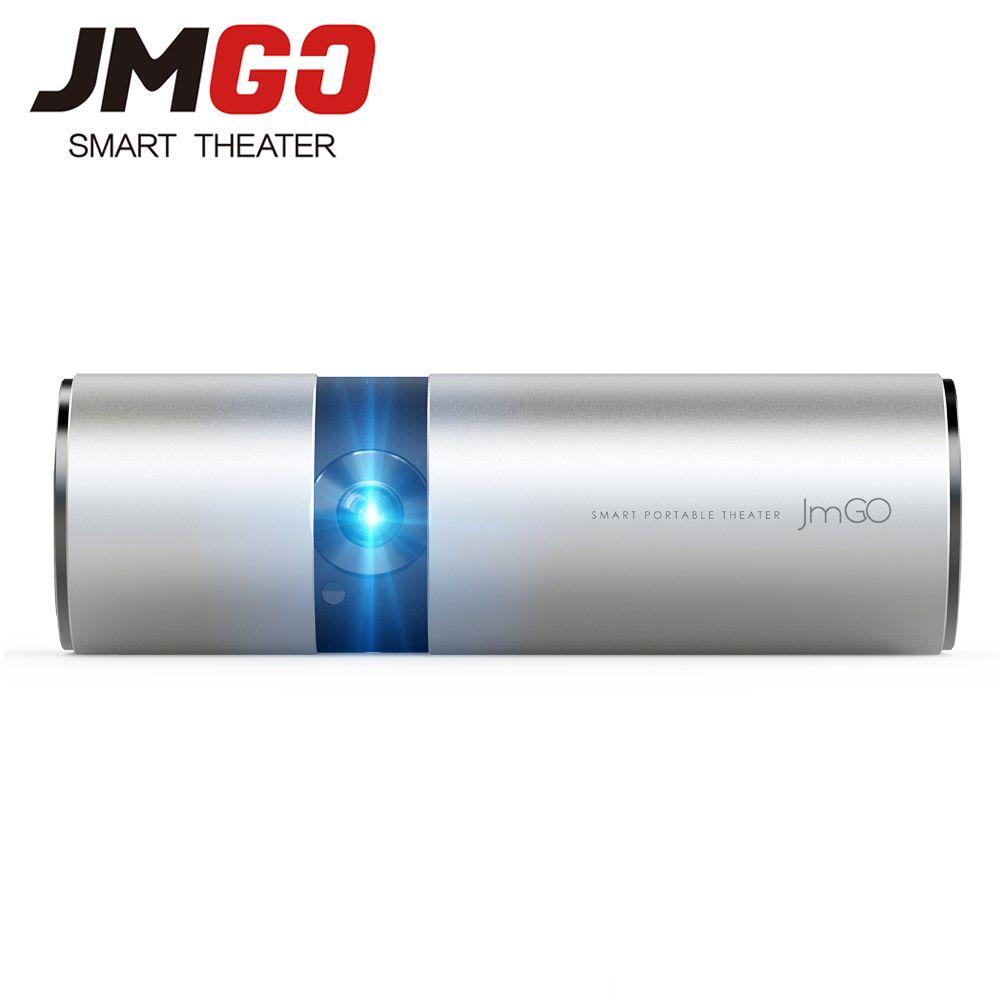 JMGO P2 Tragbare Led-projektor 250 ANSI Lumen, eingebaute 15600 mAh Lithium-Batterie Android HD Projektor, WIFI, Bluetooth Lautsprecher