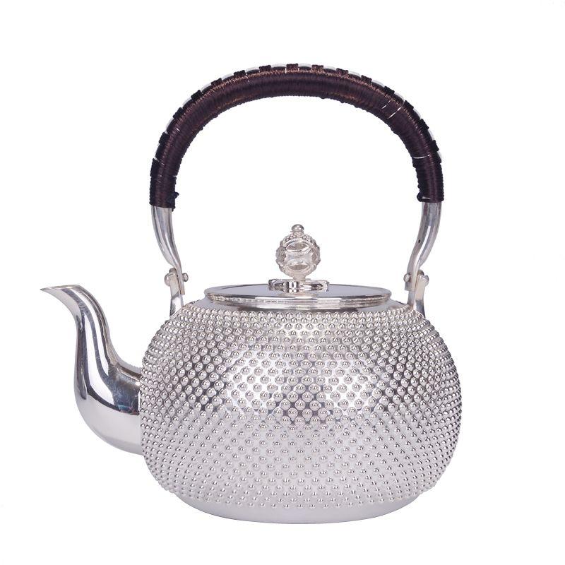Reinem silber teekanne handgemachte wasserkocher Japanischen silber teekanne tee-set 1000 ml