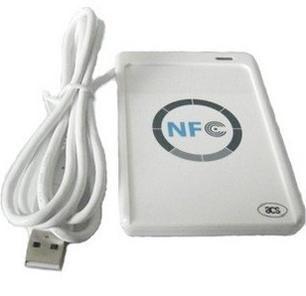 USB ACR 122U NFC à puce sans contact ic lecteur de Carte et écrivain soutien tous les 4 types + 5 pcs 13.56 MHz nfc 1 k s50 Cartes + 1 SDK CD