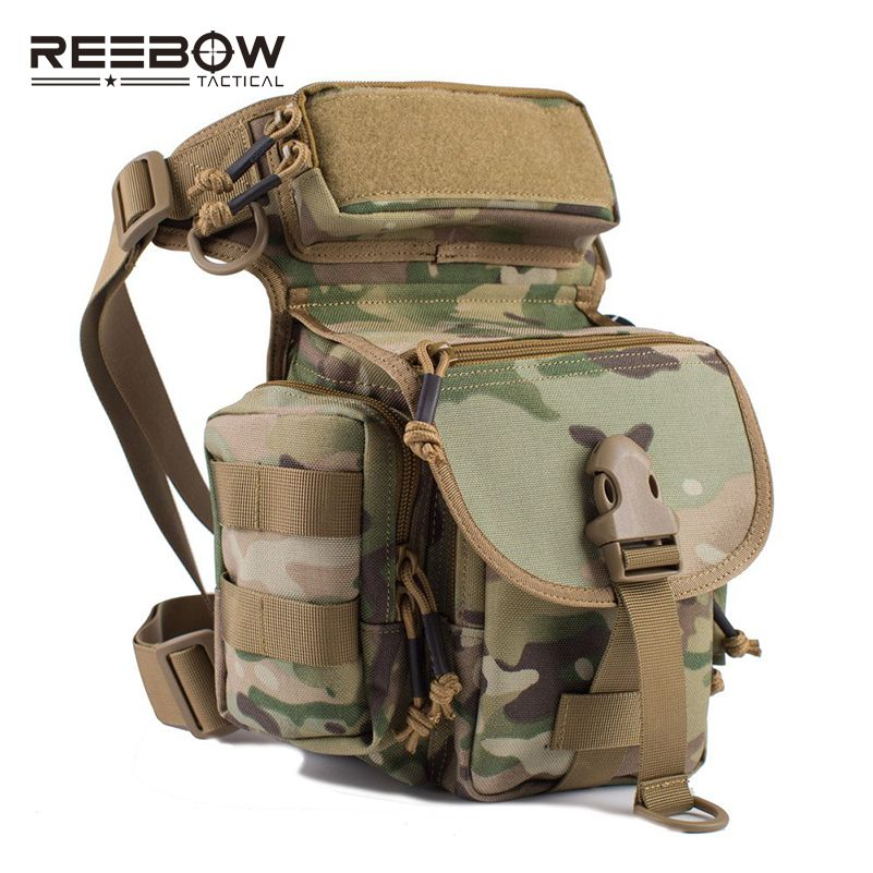 REEBOW TACTICAL Outdoor Tactical Huning Waist Drop Leg Bag Multi-functional 1000D Nylon SWAT Sports Running Bag