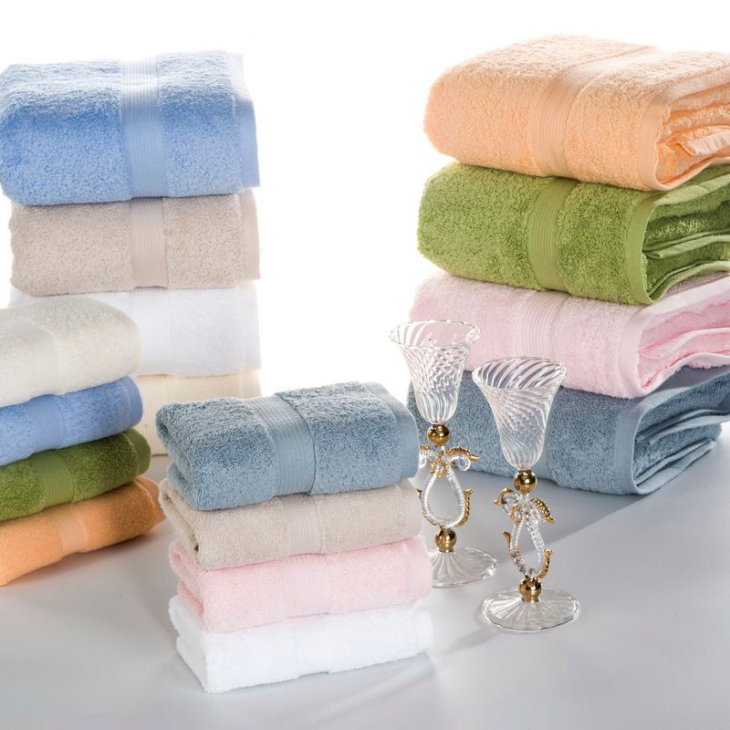 J pinno 3pcs together in one package Cotton Plush Soft Comfortable white yellow blue cyan orange Bathroom Hand Towel size74*34cm