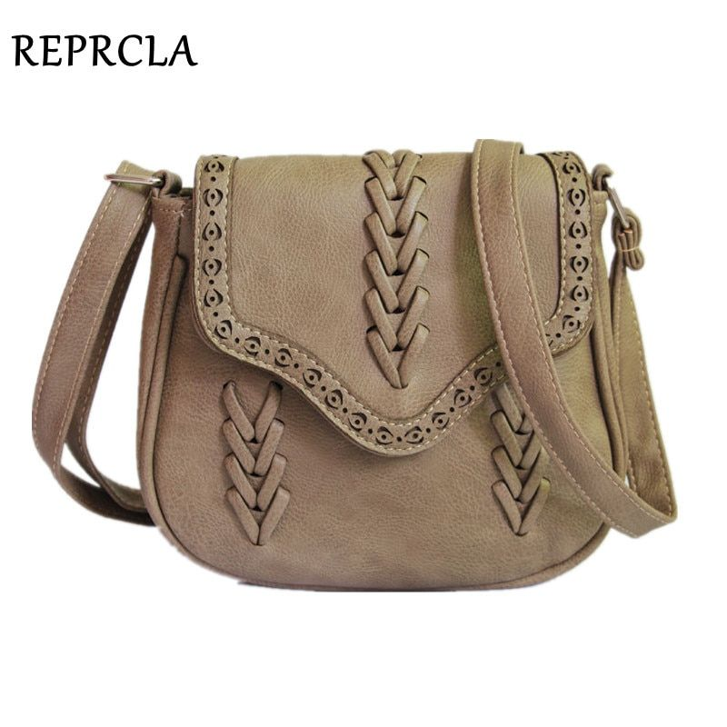 REPRCLA Newest Fashion Women Bag Weave PU Leather Handbags Crossbody Vintage Small Messenger Bags For Gift L510
