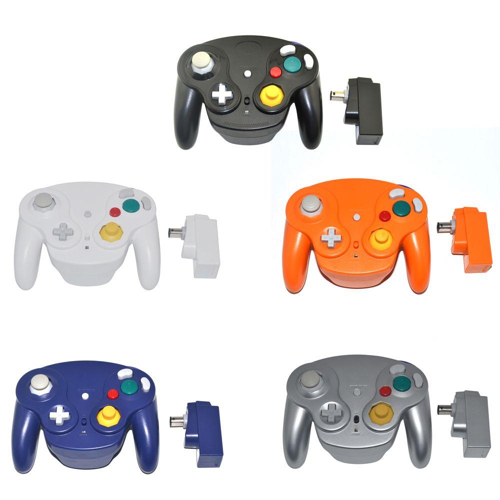 2.4 GHz manette de jeu sans fil pour N G C manette de jeu joystick pour GameCube pour Wii pas bleu dent