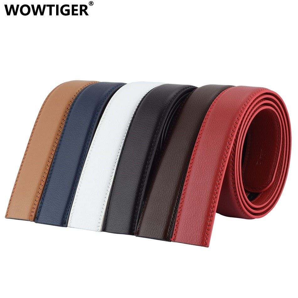 WOWTIGER Styliste 3.5 cm Ceintures En Cuir De Luxe Hommes ceinture Automatique Pas ceinture boucle ceinture homme cinturones hombre