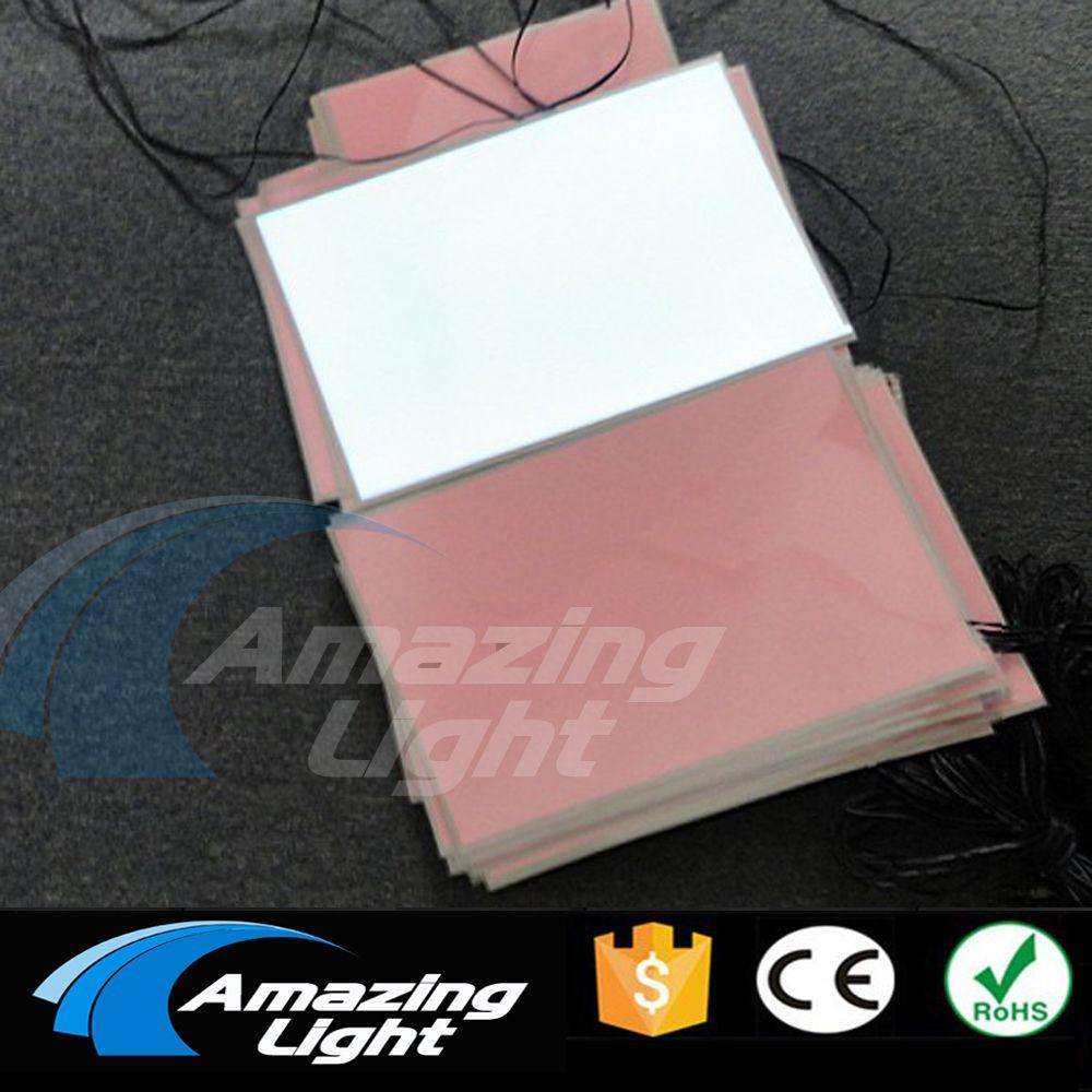100 pcs/lot Blank weiß farbe A4 (210*297mm) elektrolumineszenz hintergrundbeleuchtung blatt LCD panel el panel mit DC12V inverter