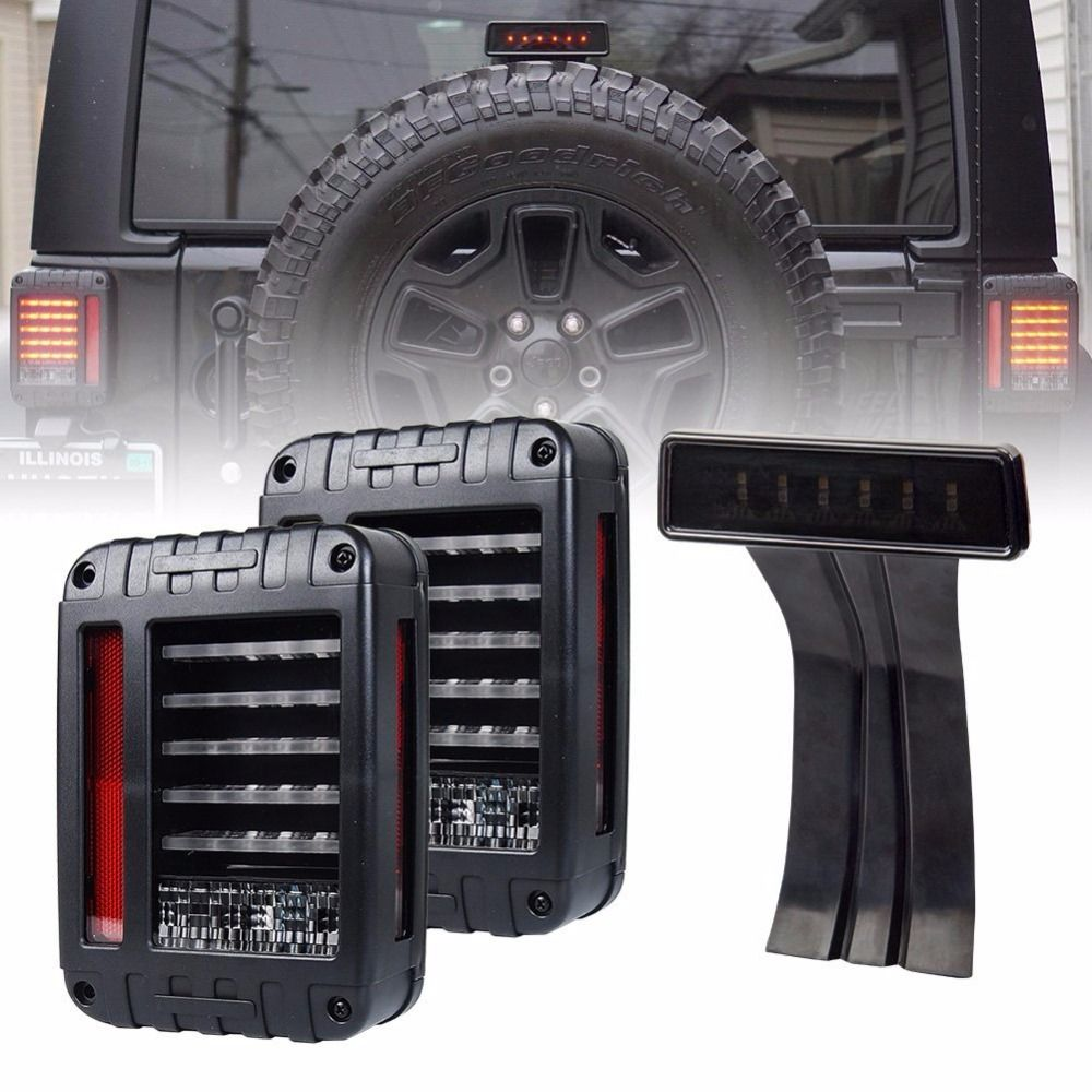 Wrangler JK LED Rückleuchte + Rauch Objektiv Dritte Hohe Bremse licht Für 2007 2008 2009 2010 2011 2012 2013 2014 2015 2016 Jeep