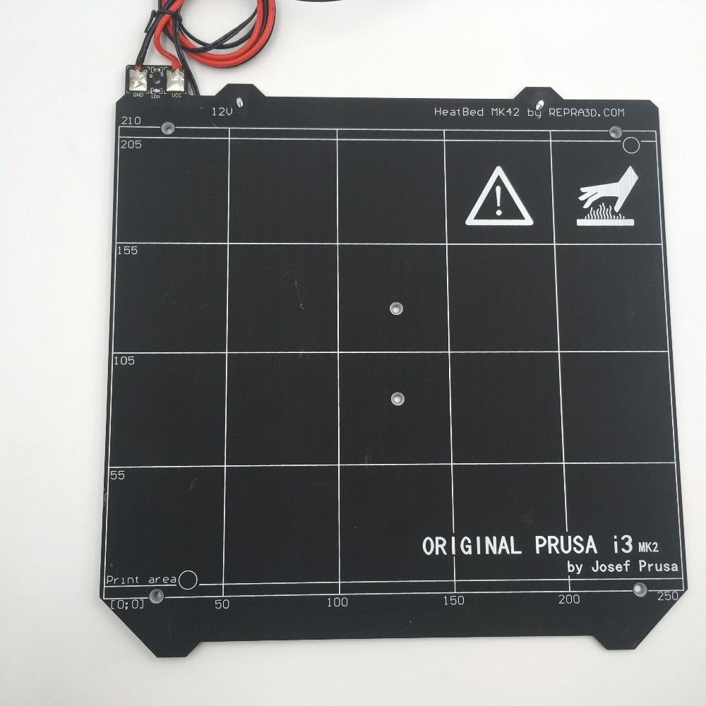 12V Prusa i3 mk2/mk2s upgraded mk2.5 PCB heated bed, with magnets, Spring sheet, 2PC PEI sheet