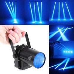 مصغرة 3 W الأزرق LED ضوء المرحلة مصباح العارض ديسكو الرقص حزب نادي KTV DJ بار تدور الليزر المرحلة الإضاءة تأثير الضوء Pinspot