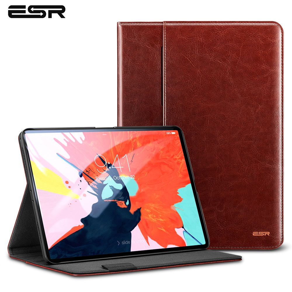 ESR Case for iPad Pro 11 2018 Premium PU Leather Business Folio Stand Pocket Auto Wake Smart Cover for New iPad Pro 11 2018 Case