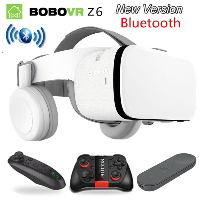 2019 neueste Bobo vr Z6 VR gläser Drahtlose Bluetooth Kopfhörer VR brille Android IOS Remote Realität VR 3D karton Gläser