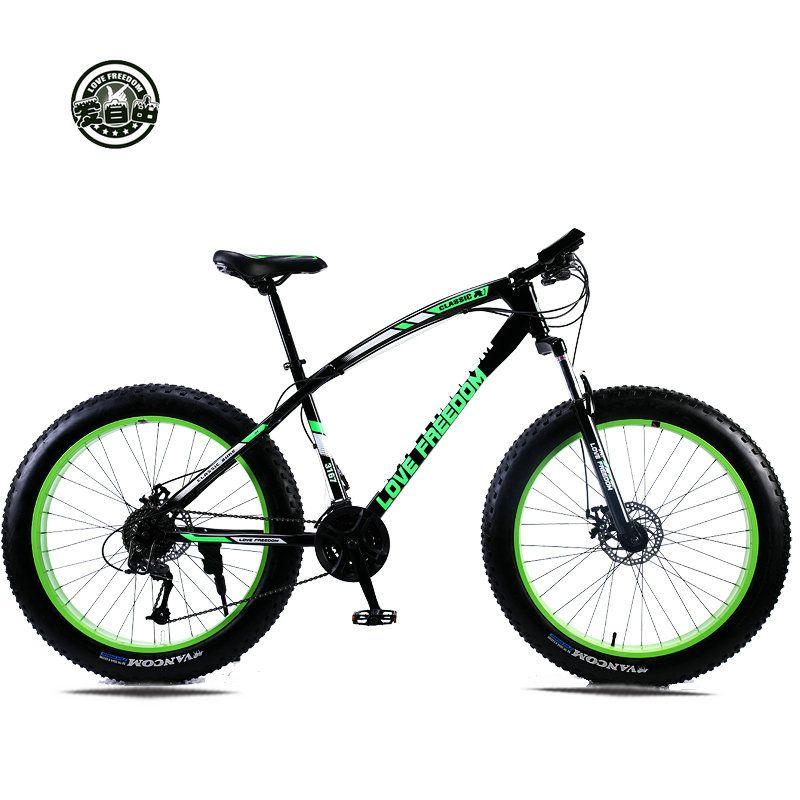 Liebe Freiheit Mountainbike 7 Geschwindigkeiten, 21 Geschwindigkeiten. 24 geschwindigkeiten. 27 geschwindigkeiten Fett Bike 26x4,0 Off-road getriebe reduktion Strand Fahrrad