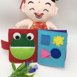 Kartun Bayi Balita Mainan Anak Perkembangan Awal Buku Kain Buku Kain untuk Bayi Anak-anak Baru Belajar Buku Pendidikan