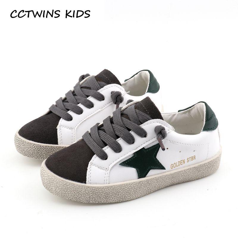 CCTWINS KIDS 2018 Spring Children Fashion Star Shoe Baby Boy Brand Sport Sneaker Girl Toddler Casual Trainer White F2185