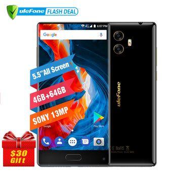 Ulefone MIX 13MP двойная Камера мобильный телефон 5.5 дюймов MTK6750T Octa core android 7.0 4 ГБ + 64 ГБ сканер отпечатков пальцев 4G смартфон