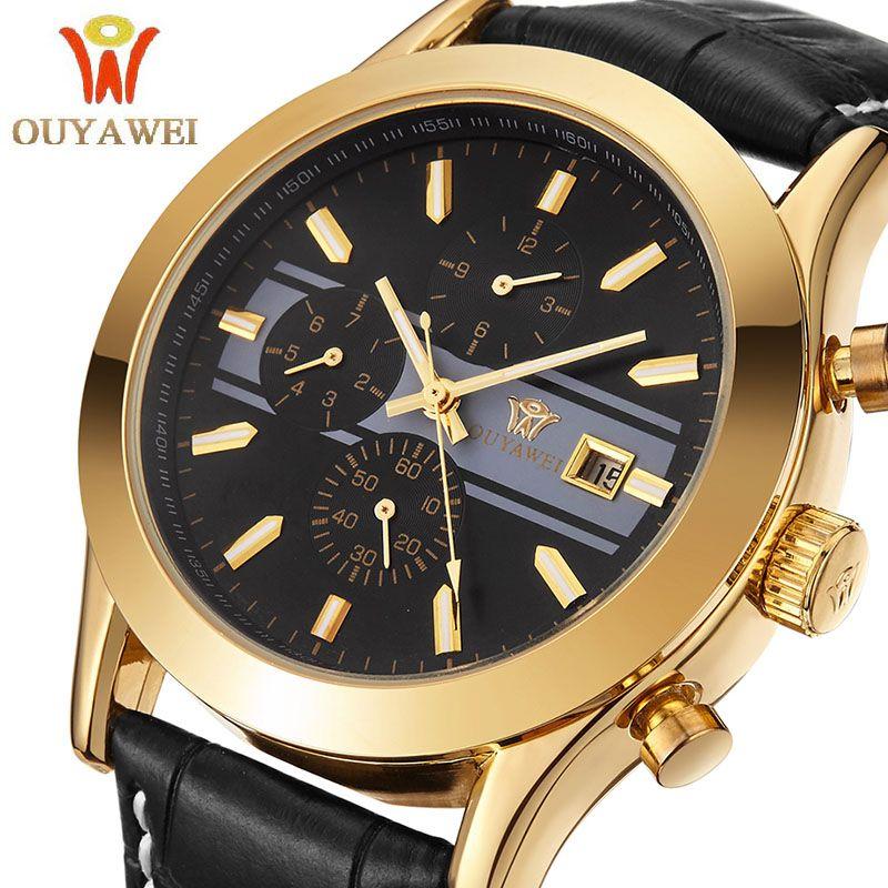 Montres hommes Top marque de luxe hommes montre-bracelet affaires montres mécaniques Ouyawei marque horloge xfcs