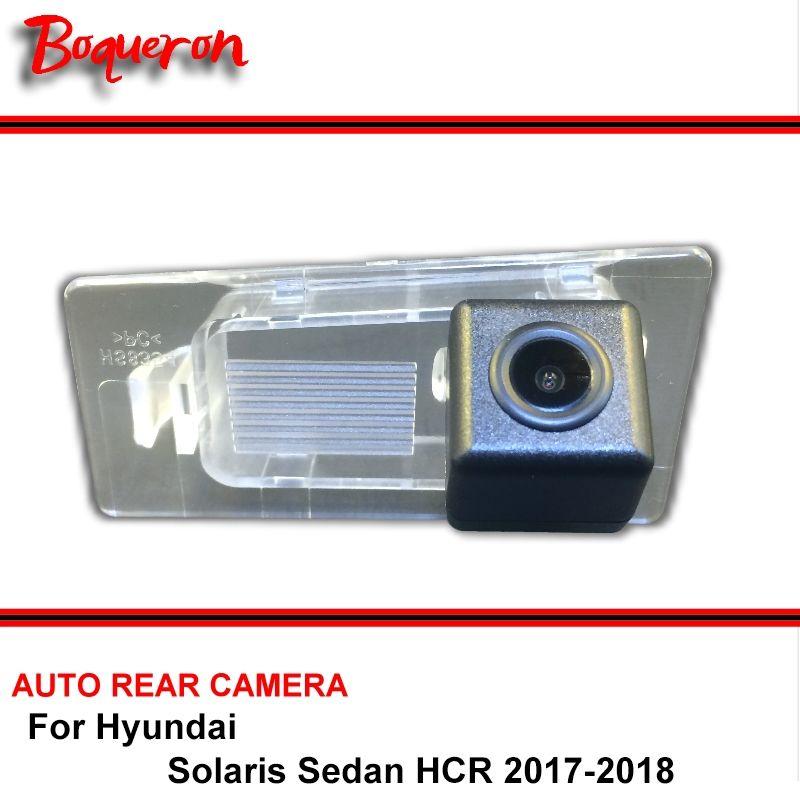 For Hyundai Solaris Sedan HCR 2017-2018 Car Backup Camera / HD CCD Night Vision Auto Reverse Parking Rear View Camera NTSC PAL