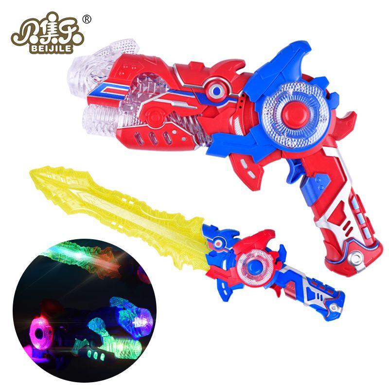 Flashing Lights deformation music gun toys sword Outdoor toys