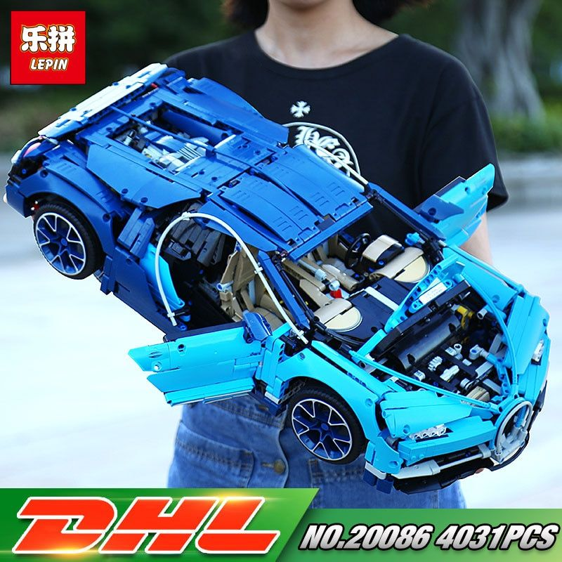 DHL Lepin 20086 Technic Toys Compatible with 42083 Blue Racing Car Set Building Blocks Bricks Kids Toys Car Model Christmas Gift