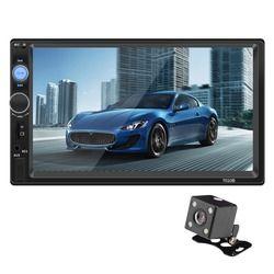 Autoradio 2 Din Car Radio MP3 Bluetooth Fm TransmitterUSB SD AUX Control remoto 7 pulgadas pantalla táctil de Audio del coche con cámara
