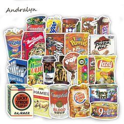 37 Buah/Banyak Lucu Makanan Ringan dan Minuman Grafiti Stiker untuk Laptop Pad Mobil Bagasi Ponsel Sepeda Decal Mainan Stiker