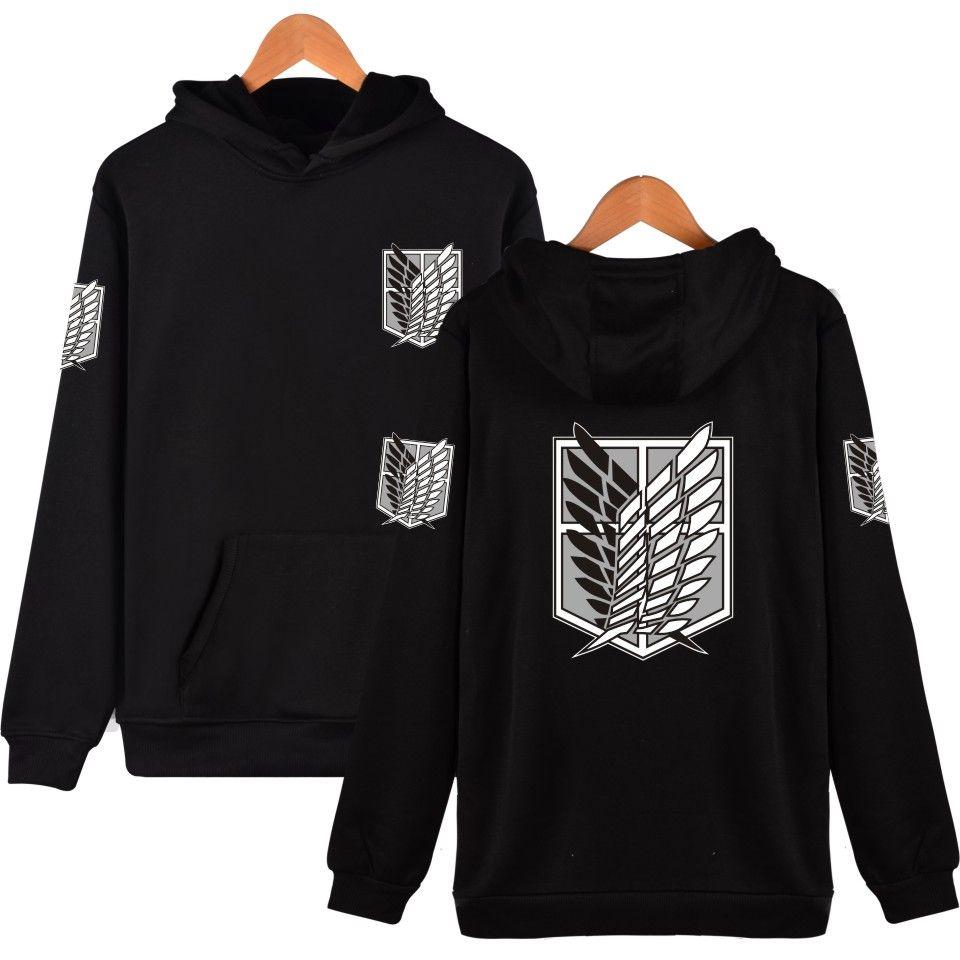 Harajuku Sweatshirt Attack On Titan Cosplay Print Hoodies Japan Comics Hiphop Style <font><b>Good</b></font> Quality Red Clothes 6 Color To Choose