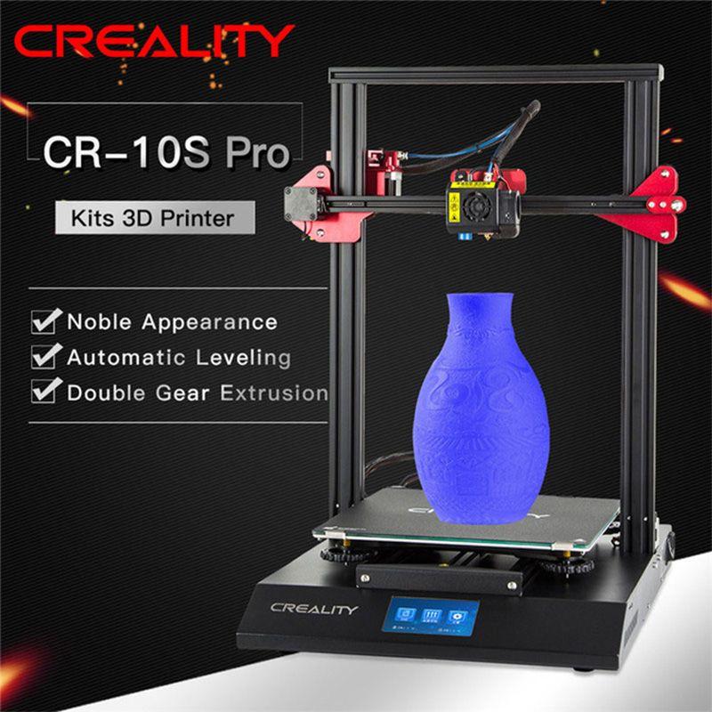 CR-10S Pro Auto Nivellierung Sensor Drucker 4,3 zoll Touch LCD Lebenslauf Druck Filament Erkennung Funtion MeanWell Power CREALITY 3D