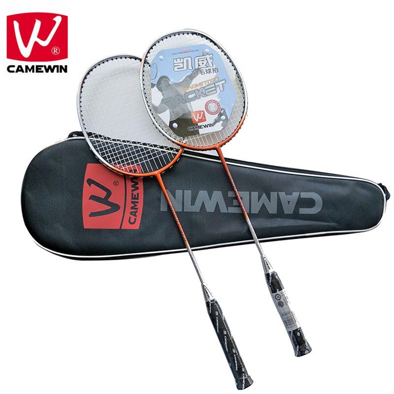 CAMEWIN Marke Professionelle Badminton Schläger Kohlenstoff Hochwertige Badminton Sport Schläger | 2 STÜCKE Badminton Schläger + 1 Beutel | Raquet