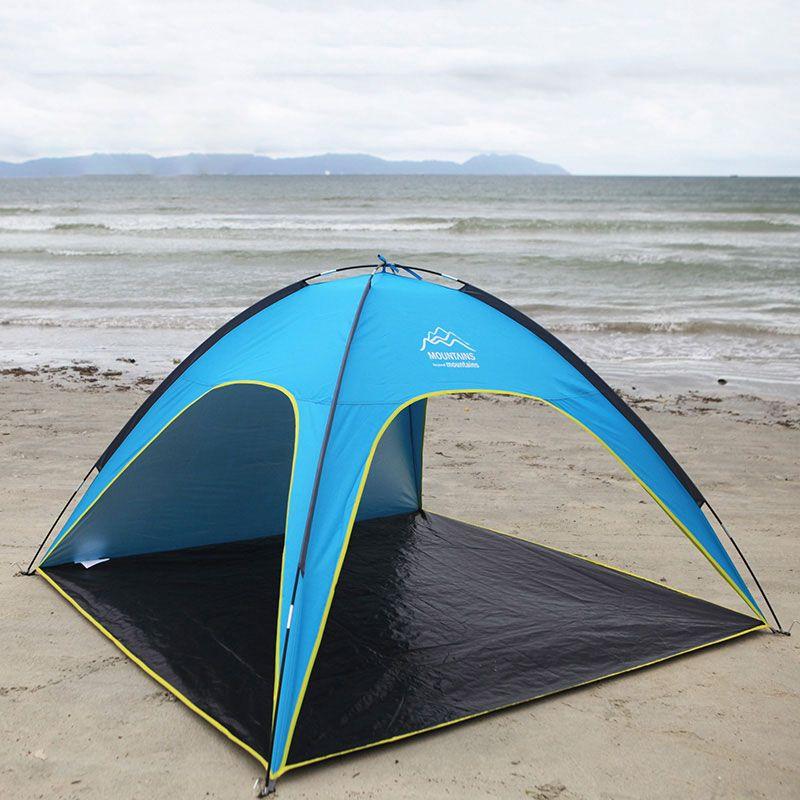 4 Personen Strandzelt Ultraleicht Strand Camping Zelt Sonnendach Großen Außen Klappmarkise Tenda wind-beständig Tente Anti-Uv