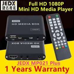 JEDX MP021 Plus 1080p Full-HD Ultra Portable Digital Media Player with IR Extender USB Drives and SD/SDHC Cards Car adapter