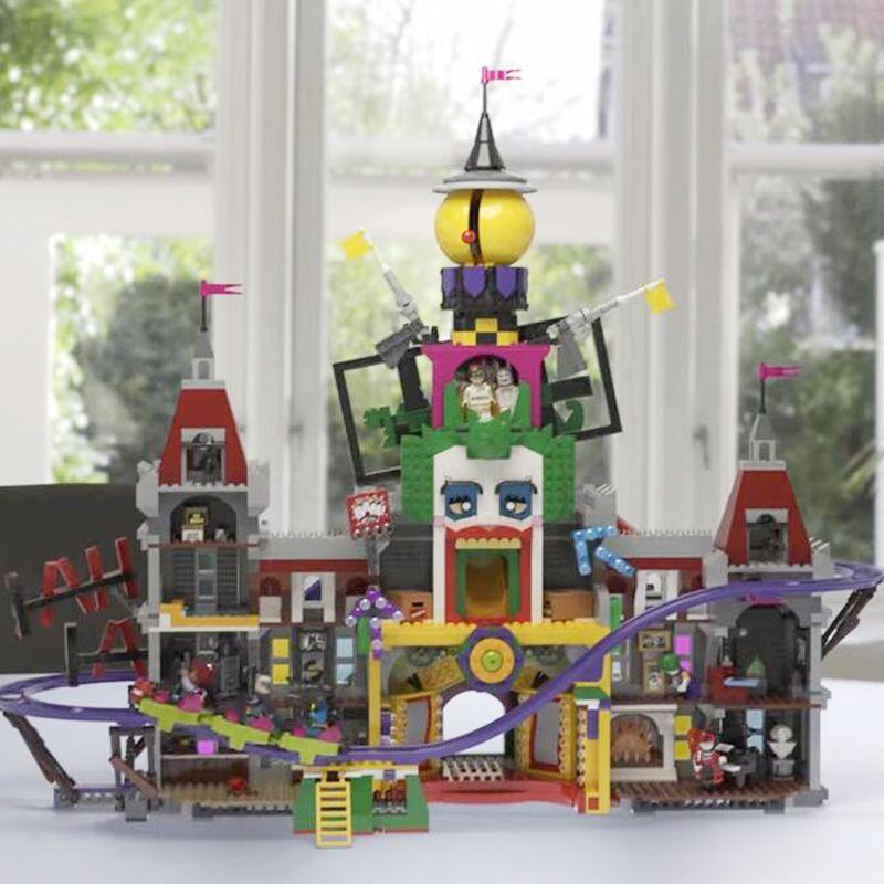 lepin 2018 NEW Legoing Joker Manor Batman Movie 70922 3857pcs Model Building Blocks Bricks Toys for Children Kids Gifts 07090
