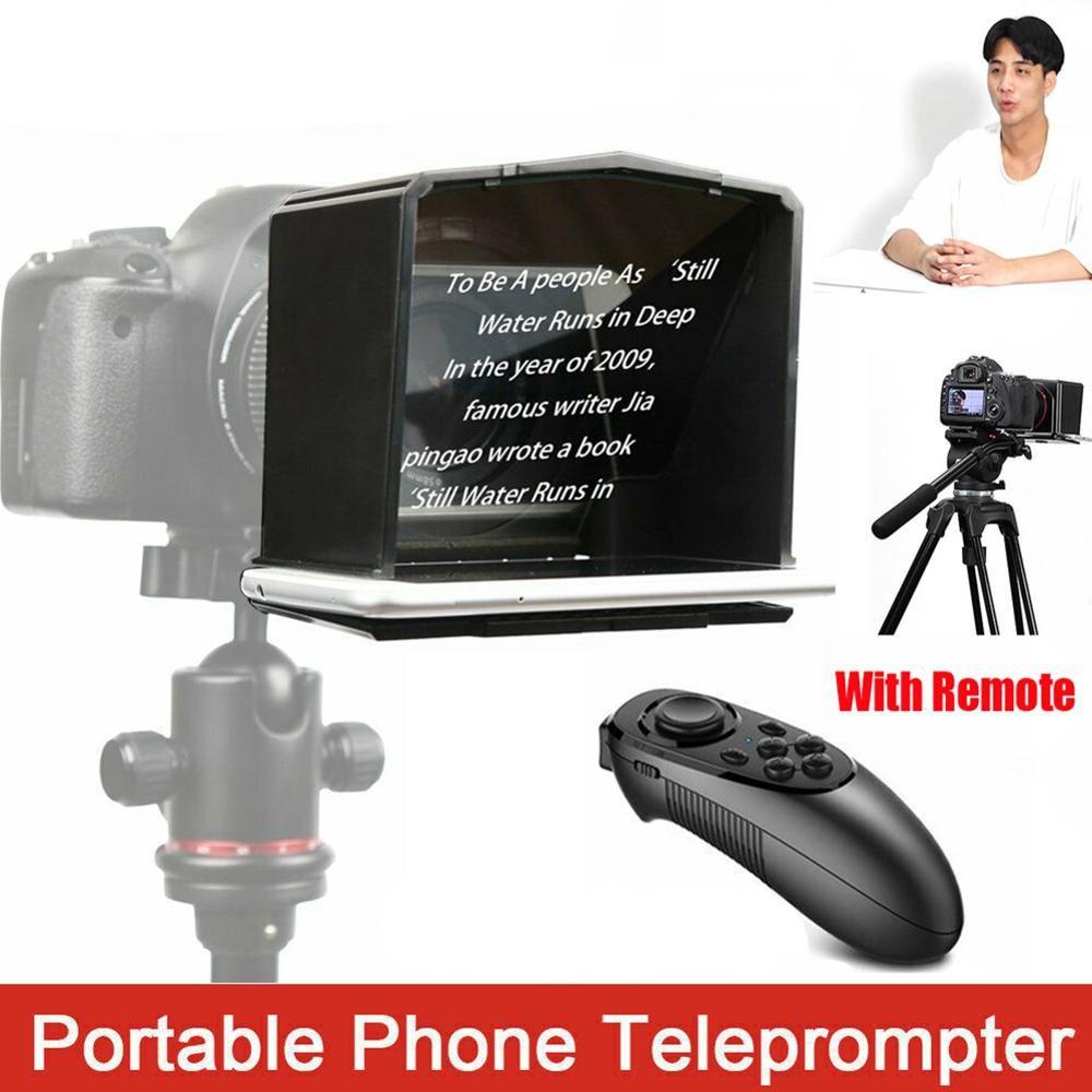 T1 ABS Mini DSLR Kamera Telefon Verwenden Mit Adapter Ring Forum High Definition Teleprompter Set Tragbare Einfach Bedienen Foto Studio