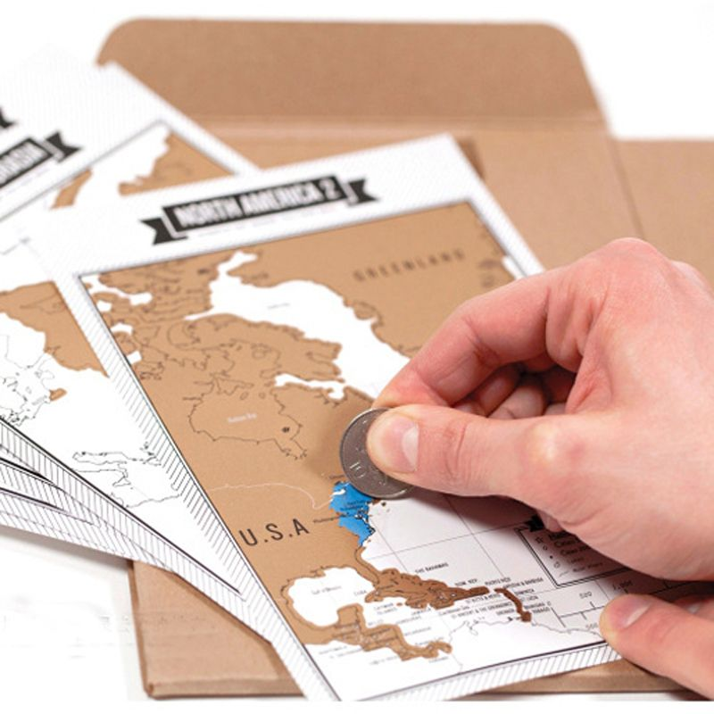 Popular Travelogue Notebooks + Scratch Map Travel Log Tourist Journal with 8 Mini World Maps