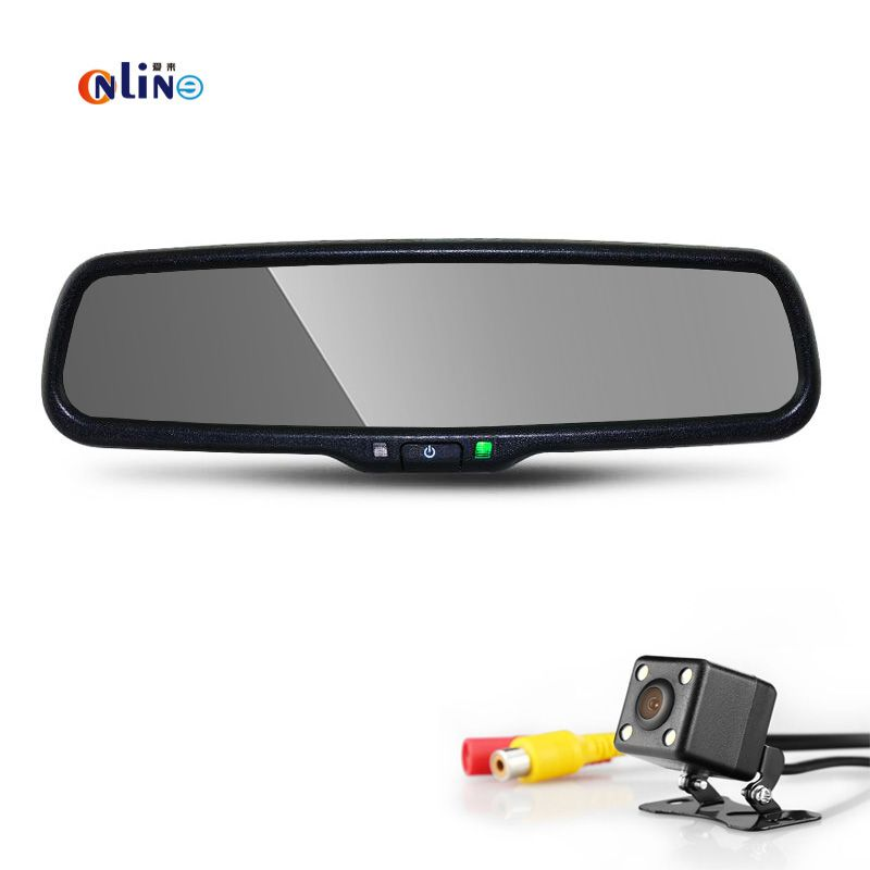 4.3 TFT LCD HD 800*480 Special Bracket Car Parking Rear View with CCD+LED Backup With 170 degree de re para auto night vision