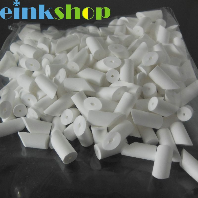 Einkshop 100pcs T-21 T21 T 21 Cleaning Swabs head For Rubystick conton head Solvent printer for Roland Mutoh / Epson