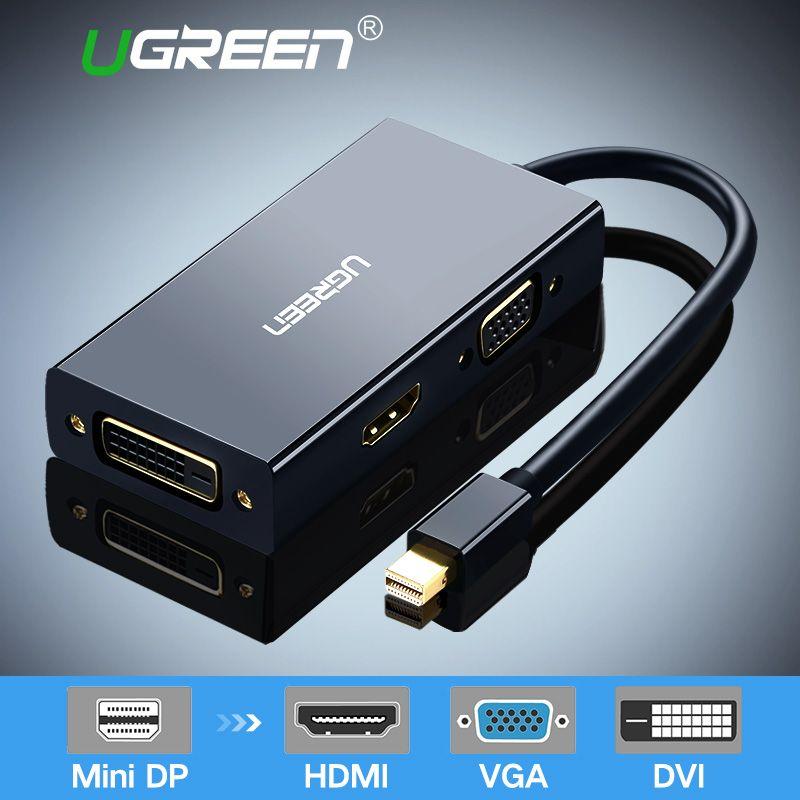 Ugreen Mini DisplayPort to <font><b>HDMI</b></font> VGA DVI Adapter Thunderbolt 2 <font><b>HDMI</b></font> Converter Mini DP Cable for Surface Pro 4 Mini DisplayPort