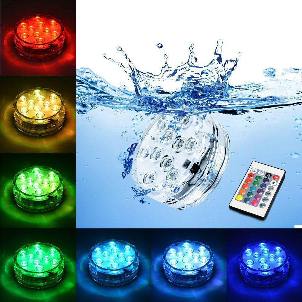 Unterwasser Tauch Vase 10 Led Remote Controll RGB Kerzelicht Batterie Betrieben Nachtlampe Party Im Freien Pool Dekoration