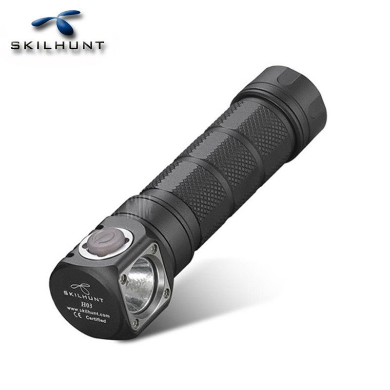 SKILHUNT H03R Waterproof XM-L2 3 Modes 1200LM Multi-level EDC LED Flashlight By 18650/CR123A /RCR123A battery Camping