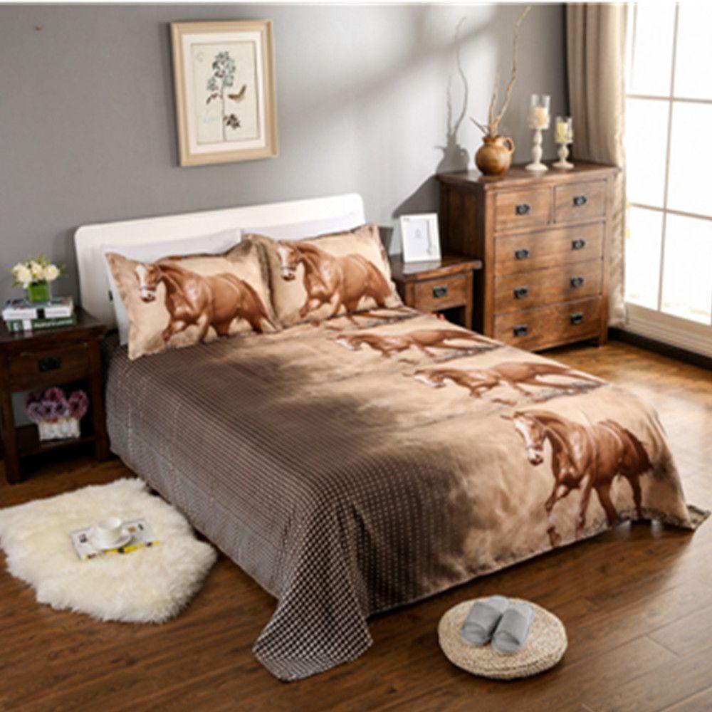3D Bedding Set Horse Printed Bedding Animal Print Bedclothes Duvet Cover Set Quilt Cover Bed Linens