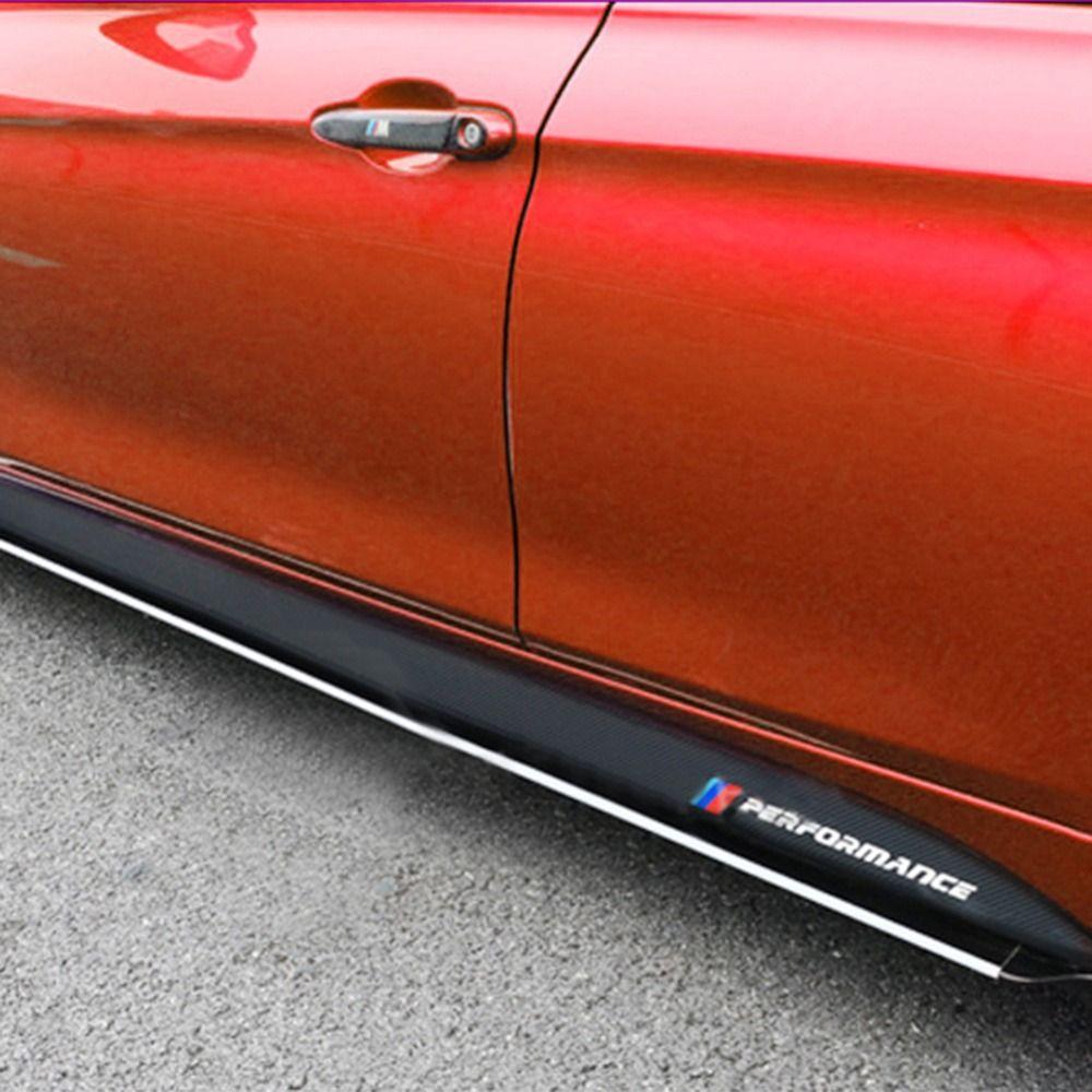 [Original]1 Pair Non-slip Side Skirt Sills Car Stickers For BMW F30 F31 F32 F33 F15 F16 F10 E60 E61 Carbon Fiber Vinyl Decals