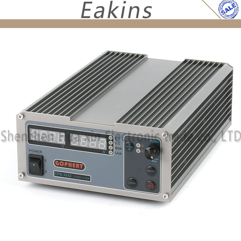New upgrade Compact Digital Adjustable Laboratory DC Power Supply OVP/OCP/OTP MCU Active PFC 32V 32A 170V-264V + EU + Cable