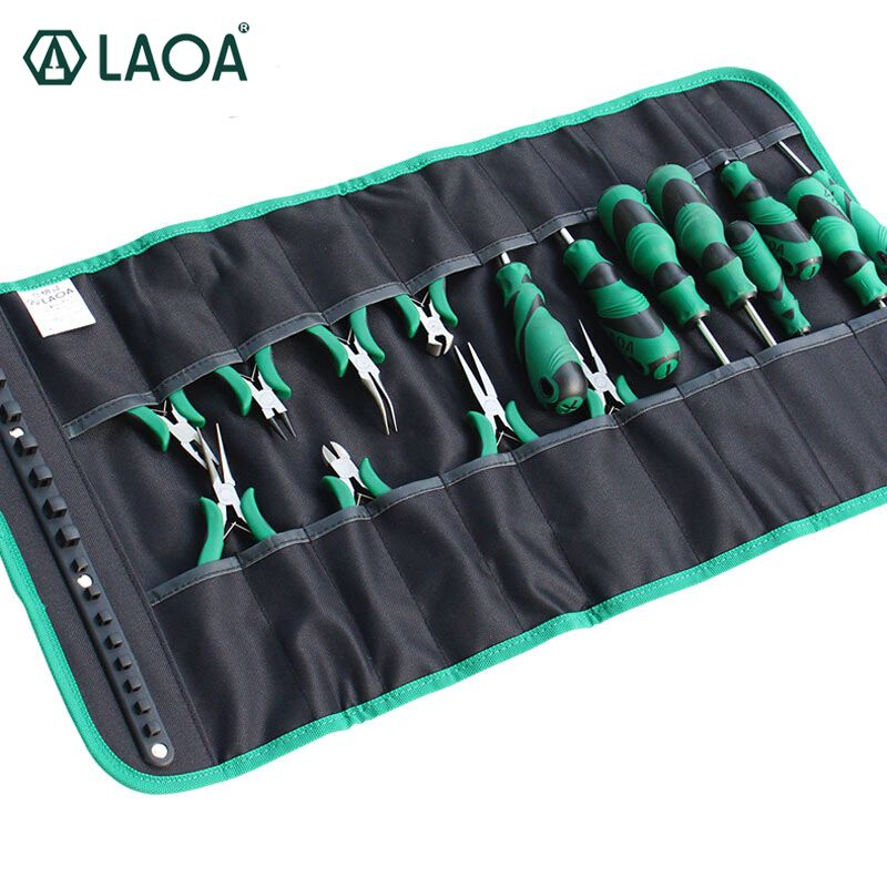 LAOA Oxford Cloth Rolling Tool Bag for Screwdrivers Toolkit to Storage Mini Pliers Electrician Workbag Without tools LA212815