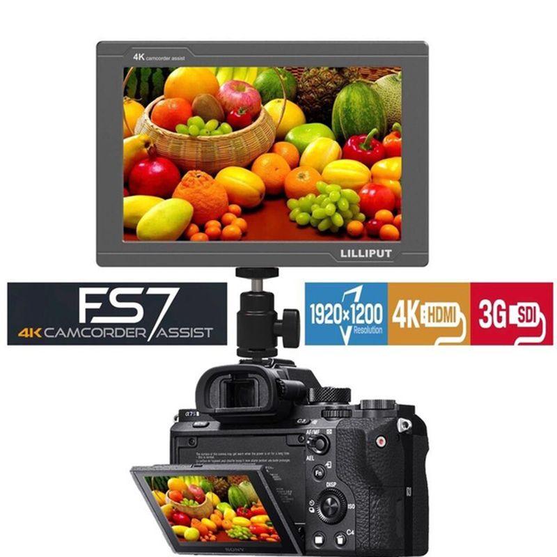 Lilliput FS7 7 zoll Full HD 1920x1200 4 K HDMI 3G-SDI in/out Auf Kamera Feld Monitor für ZHIYUN Kran 2/DJI RONIN S/FEIYU Gimbal