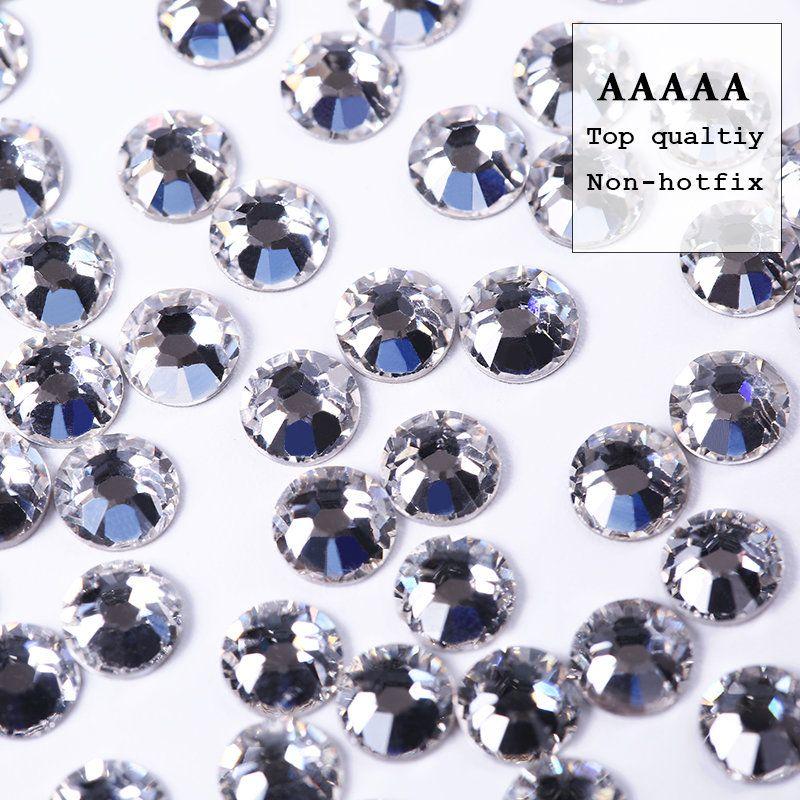 Promotions AAAAA de qualité supérieure! SS3-SS30 brillant emballage cristal clair flatback strass pour bricolage beauté accessoires de mode perle