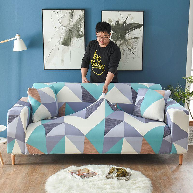 Quatre saisons anti-dérapant canapé couvre extensible tout compris Polyester housse élastique canapé coussin canapé serviette pour salon